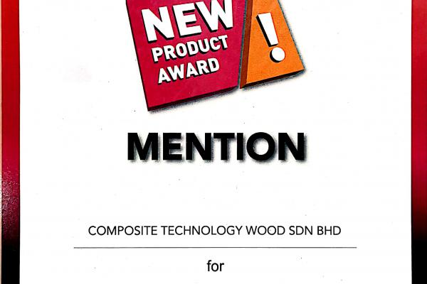 NEW PRODUCT AWARD WINNING ON CTWOOD PRODUCT